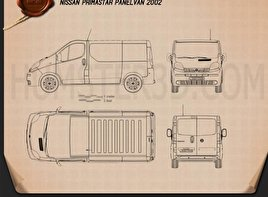 Nissan Primastar Panel Van 2002 Blueprint