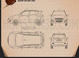 Suzuki Splash (Ritz) 2012 Blueprint