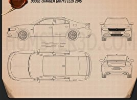 Dodge Charger (LD) 2015 Blueprint