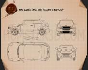 Mini Cooper Paceman S All4 2014 Blueprint 3d model