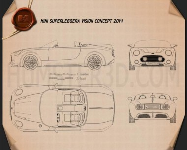 Mini Superleggera Vision 2014 Blueprint