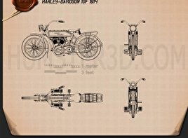 Harley-Davidson 10F Blueprint