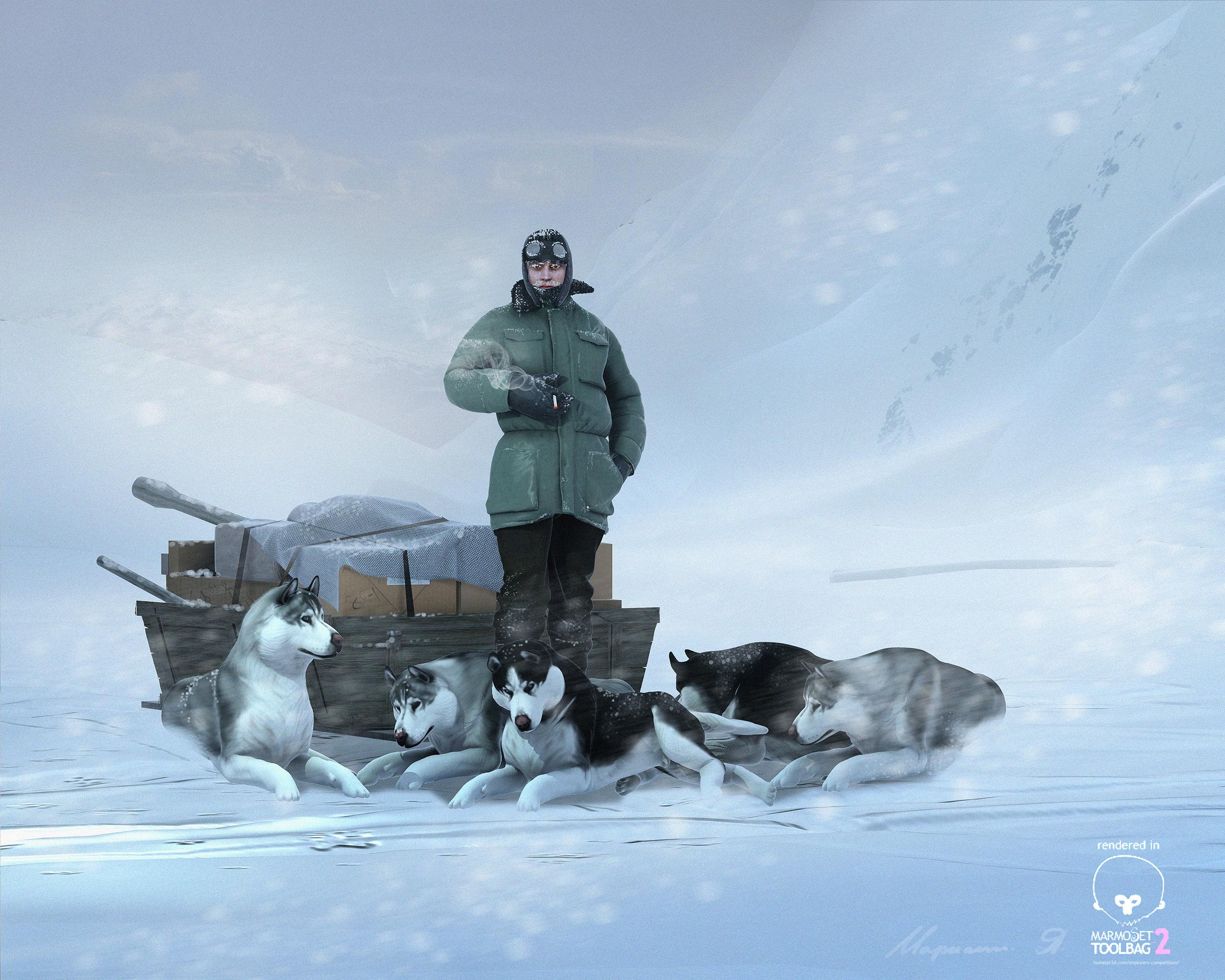 Polar explorer 3d art