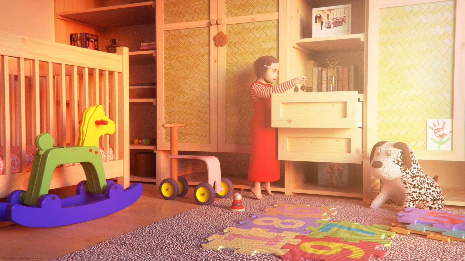 Secrets of drawers 3d art