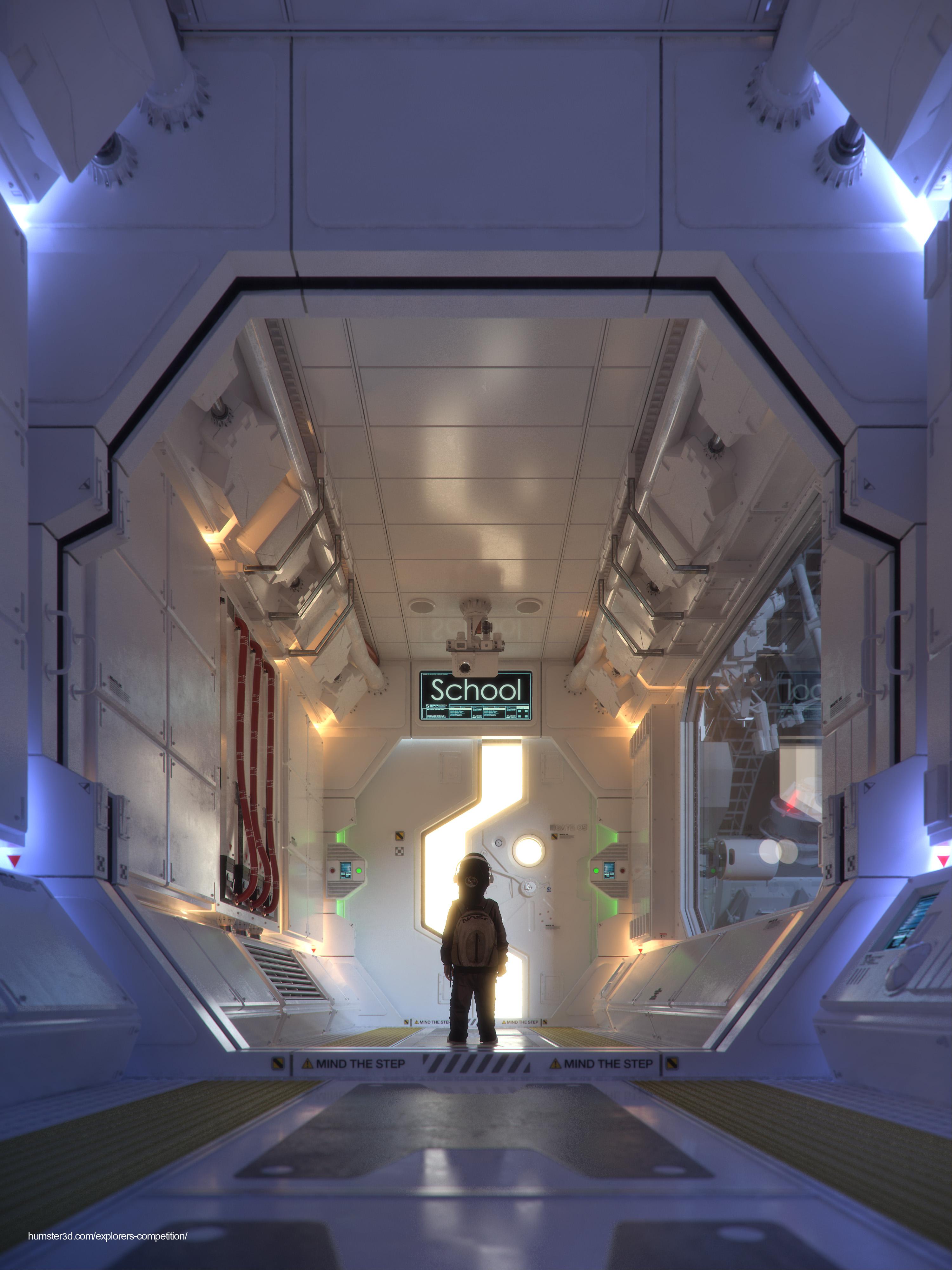 Space Child 3d art