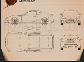 Subaru BRZ 2013 Blueprint
