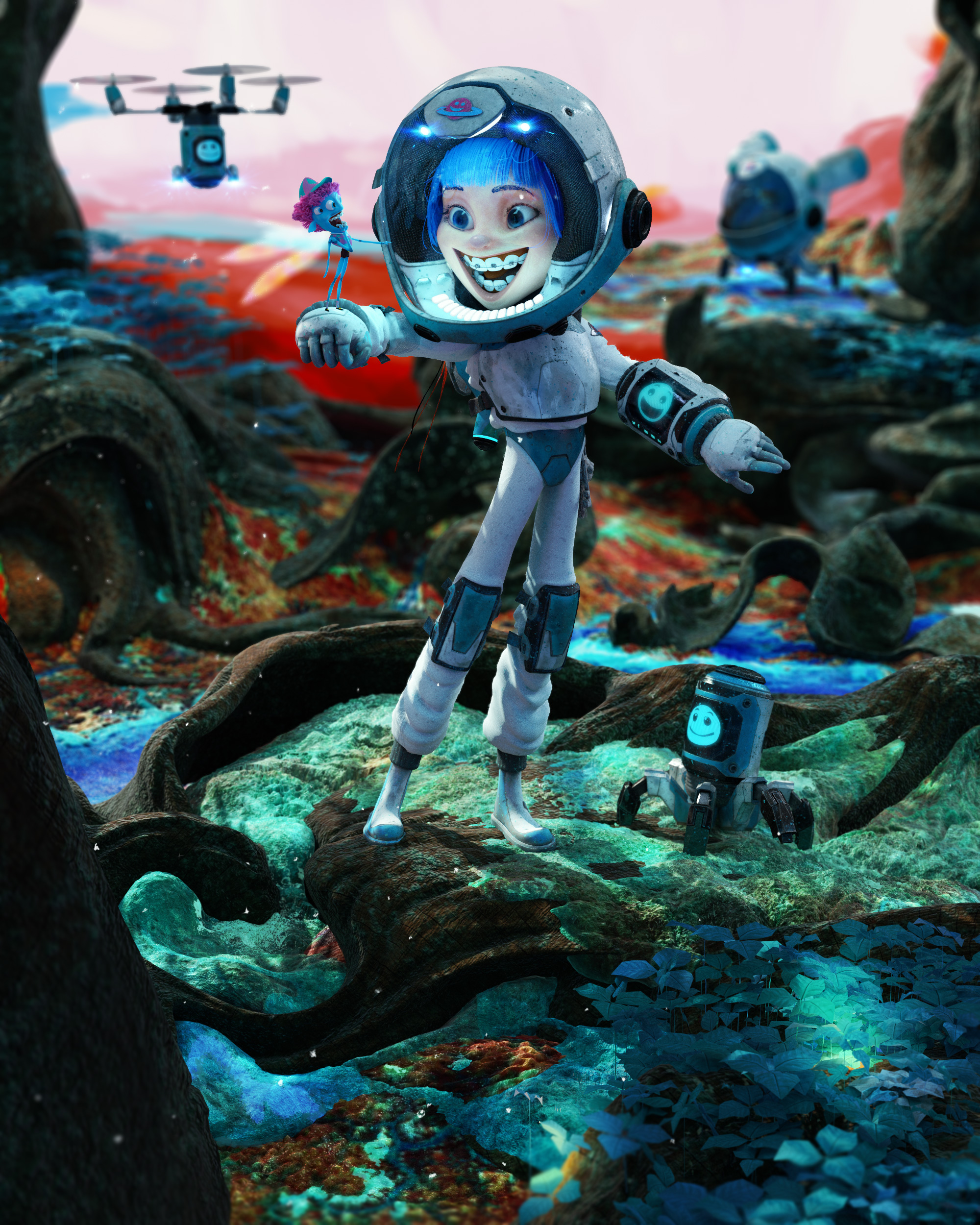 The Space Kid 3d art