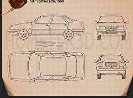 Fiat Tempra 1990 Blueprint