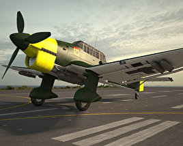 3D model of Junkers Ju 87 Stuka