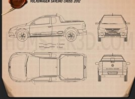 Volkswagen Saveiro Cross 2012 Blueprint