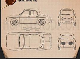 Renault Ondine 1962 Blueprint