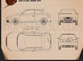 Audi S1 3-door 2014 Blueprint
