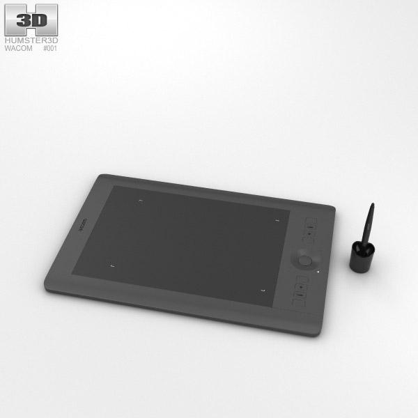 3D model of Wacom Intuos Pro Medium