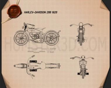 Harley-Davidson 26B 1926 Blueprint