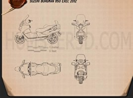 Suzuki Burgman (Skywave) AN650 Executive 2012 Blueprint