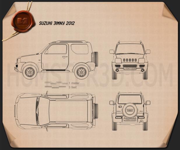 Suzuki Jimny 2012 Blueprint
