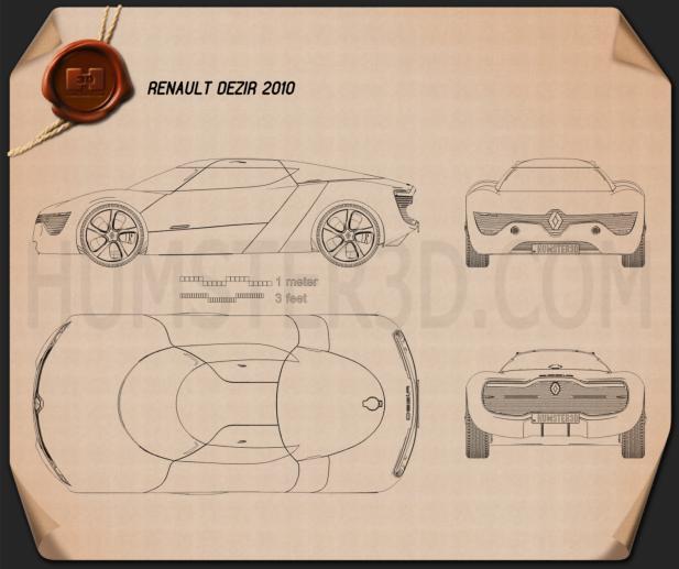 Renault DeZir 2010 設計図