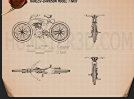 Harley-Davidson Model 1 1903 Blueprint