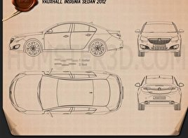 Vauxhall Insignia sedan 2012 Blueprint
