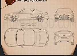 Audi TT (8S) roadster 2014 Blueprint