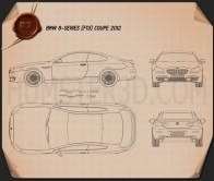 BMW 6 Series (F13) Coupe 2012 Blueprint