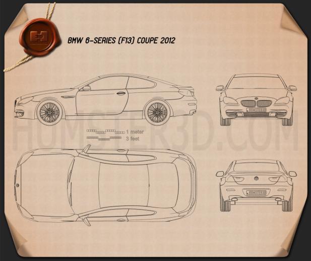 BMW 6 Series (F13) Coupe 2012 設計図