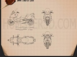BMW C 650 GT 2013 Blueprint