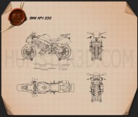 BMW HP4 2013 Blueprint