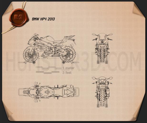 BMW HP4 2013 Blueprint