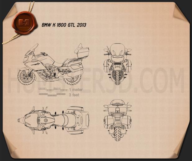 BMW K 1600 GTL 2013 Blueprint