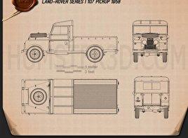 Land Rover Series I 107 Pickup 1958 Blueprint