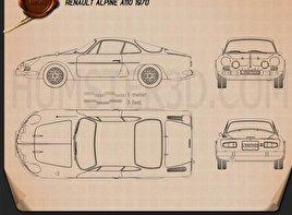 Renault Alpine A110 1970 Blueprint