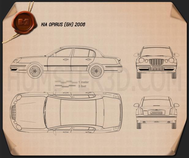 Kia Opirus (Amanti) 2006 Blueprint