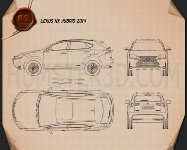 Lexus NX Hybrid 2014 Blueprint