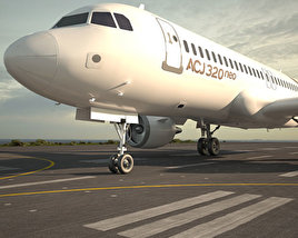 3D model of Airbus ACJ320neo