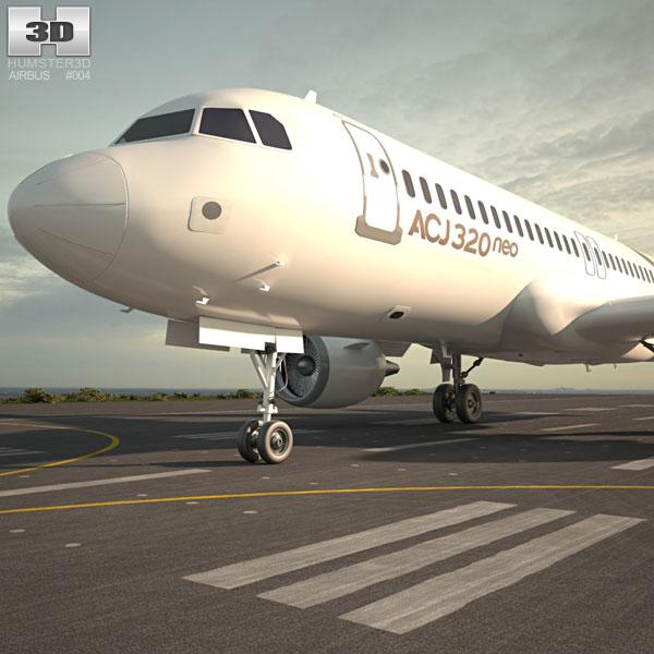 3D model of Airbus ACJ320neo