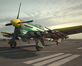 3D model of Hawker Typhoon