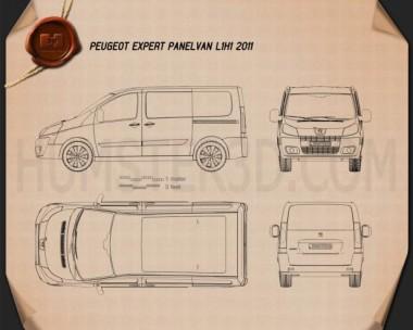 Peugeot Expert II Panel Van L1H1 2011 Blueprint
