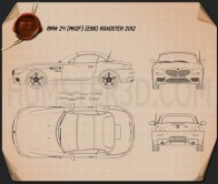 BMW Z4 (E89) roadster 2013 Blueprint