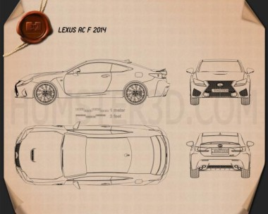 Lexus RC F 2014 Blueprint