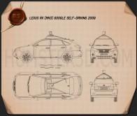 Lexus RX Google Self-driving 2013 Blueprint