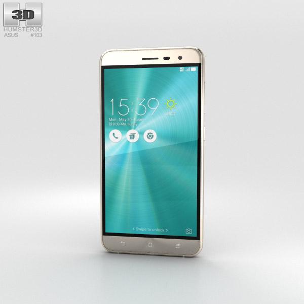 Asus Zenfone 3 Shimmer Gold 3D model