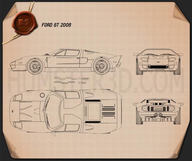 Ford GT 2006 Blueprint