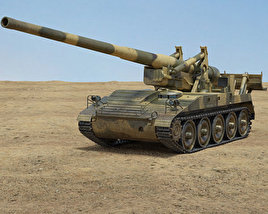 3D model of M107 self-propelled gun