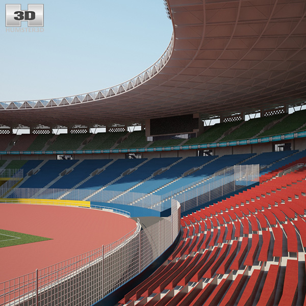 3D model of Gelora Bung Karno Stadium