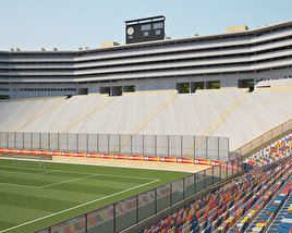 "3D model of Estadio Monumental ""U"""