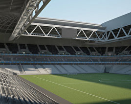 3D model of Stade Pierre-Mauroy