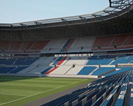 3D model of Parc Olympique Lyonnais (Stade des Lumiеres)
