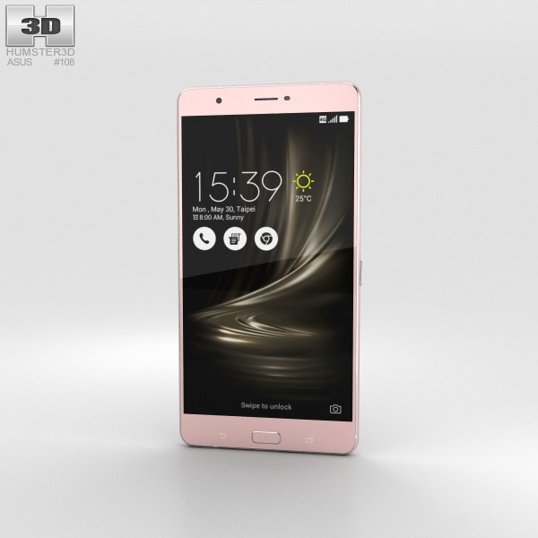 Asus Zenfone 3 Ultra Metallic Pink 3D model