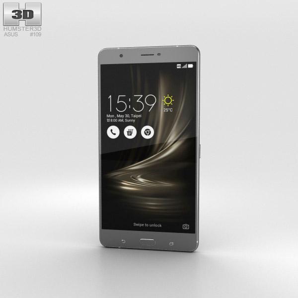 Asus Zenfone 3 Ultra Titanium Gray 3D model